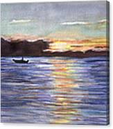 Chesapeake Dusk Boat Ride Canvas Print