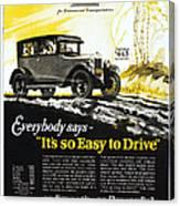 Chevrolet Ad, 1926 Canvas Print