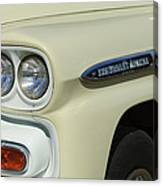 Chevrolet Apache 31 Fleetline Headlight Emblem Canvas Print