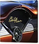 Chevrolet Belair Dashboard Clock And Emblem Canvas Print