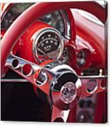 Chevrolet Corvette Steering Wheel Canvas Print