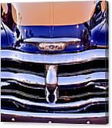 Chevrolet Pickup Truck Grille Emblem Canvas Print