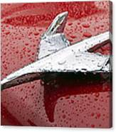 Chevy Bel Air Nomad Hood Ornament Canvas Print