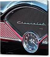 Chevy Dash Clock Canvas Print