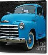 Chevy Pick-up With Bw Background Canvas Print