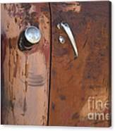 Chevy Truck Door Handle Detail Canvas Print