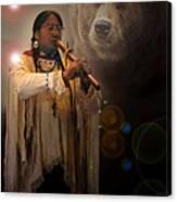 Cheyenne  Flute  Musician Canvas Print