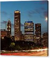Chicago Business District At Dusk Canvas Print