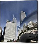 Chicago Cityscape The Bean Canvas Print