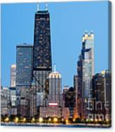 Chicago Downtown At Night With John Hancock Building Canvas Print