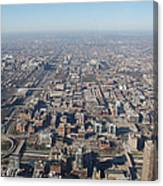 Chicago From The Top Of The Willis Tower Canvas Print