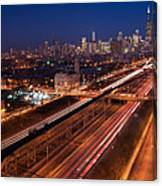 Chicago Illumina Canvas Print