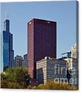 Chicago Skyline From Millenium Park Canvas Print