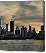 Chicago Skyline Navy Pier Canvas Print