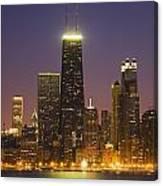 Chicago Skyscrapers With John Hancock Canvas Print