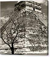 Chichen Itza Blk And White Canvas Print