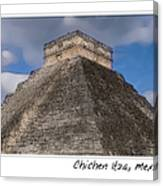 Chichen Itza Modern Seven Wonders Of The World In Mexico Canvas Print