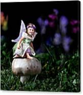 Child Fairy On Mushroom Canvas Print