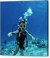 Child Scuba Diver Canvas Print