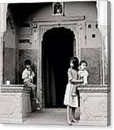 Childhood In Jaipur  Canvas Print