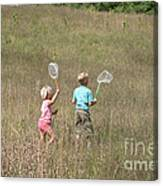 Children Collecting Insects Canvas Print