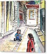 Children In Nicosia Canvas Print