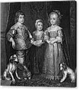 Children Of Charles I Canvas Print