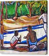 Children Of Corn Island Canvas Print