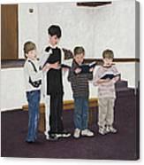 Children Sing Praise Canvas Print