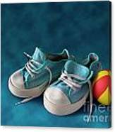 Children Sneakers Canvas Print