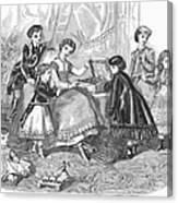 Childrens Fashion, 1868 Canvas Print