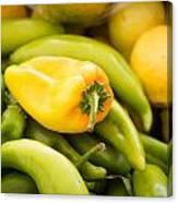 Chili And Lemon Canvas Print