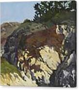 China Cove Cliffs Canvas Print