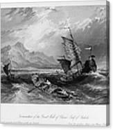 China: Gulf Of Bohai, 1843 Canvas Print