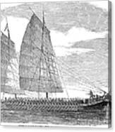 China: Junk, 1857 Canvas Print