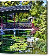 Chinese Gardens In Portland Oregon Canvas Print