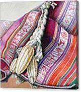 Choclos Sobre Aguayo Canvas Print
