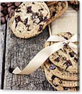 Chocolate Chip Cookies And Chocolate Chips Canvas Print