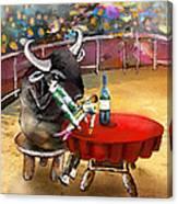 Chop Sticks For A Bull Canvas Print