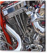 Chopper Engine Canvas Print