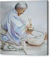 Chopsticks Iv - Rice Bowl Canvas Print