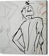 Chris - Life Drawing Canvas Print