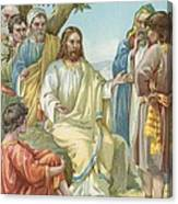 Christ And His Disciples Canvas Print