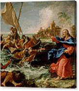 Christ At The Sea Of Galilee Canvas Print