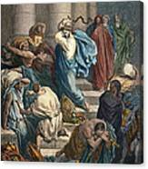 Christ At The Temple Canvas Print