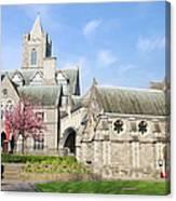 Christ Church Cathedral In Dublin Canvas Print
