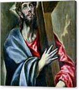 Christ Clasping The Cross Canvas Print