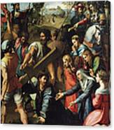 Christ Falls On The Way To Calvary Canvas Print