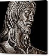 Christ In Bronze - Bw Canvas Print