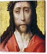 Christ In Crown Of Thorns Canvas Print